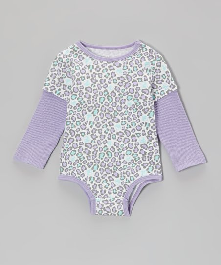 Lavender Cheetah Layered Bodysuit