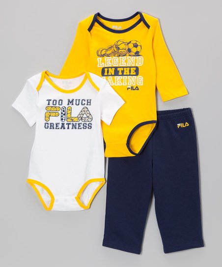 Yellow & Black Soccer Bodysuit Set