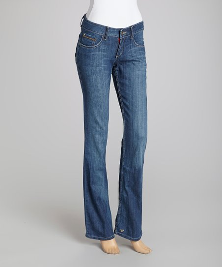 Blue Stone Wash Bootcut Jeans - Women