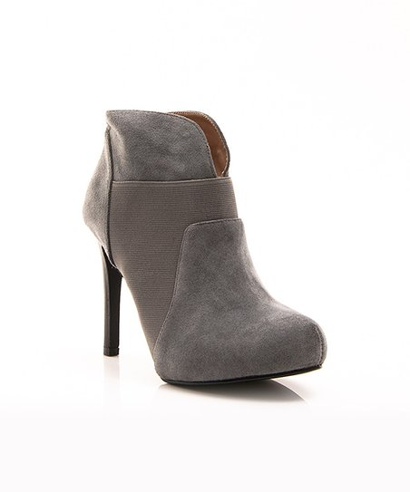 Gray Mod Prom Night Bootie
