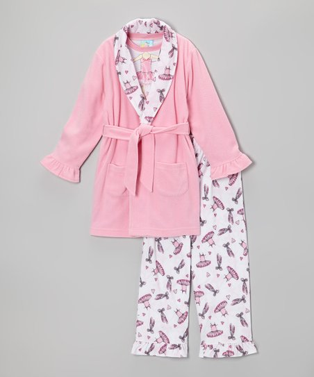 Prism Pink Tiny Dancer Bathrobe Set - Infant & Toddler