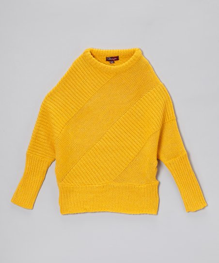 Bright Maize & Gold Dolman Sweater - Girls
