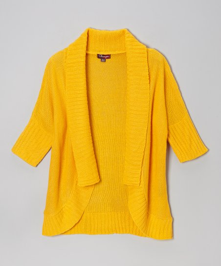 Bright Maize Open Cardigan - Toddler & Girls