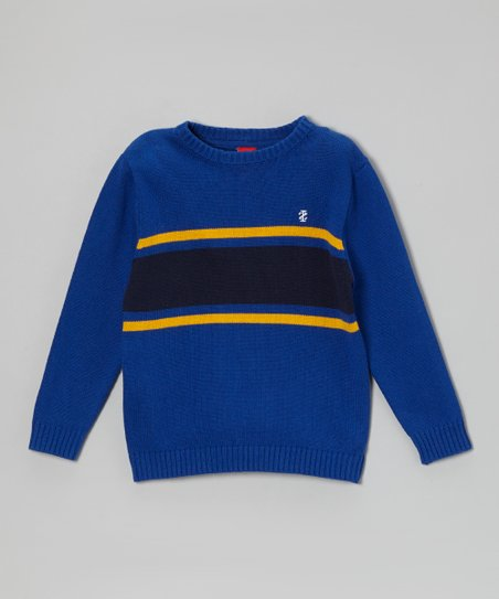 Blue Stripe Sweater - Boys