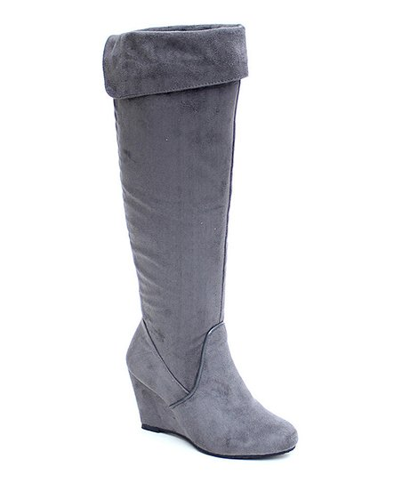 Gray Martini Wedge Boot