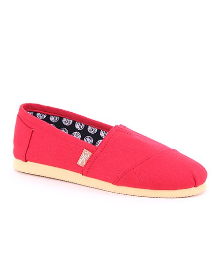 Red Voyage Canvas Flat