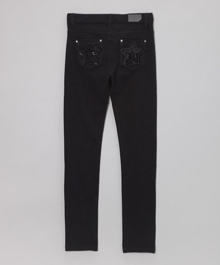 Black Flashback Star Pants - Girls