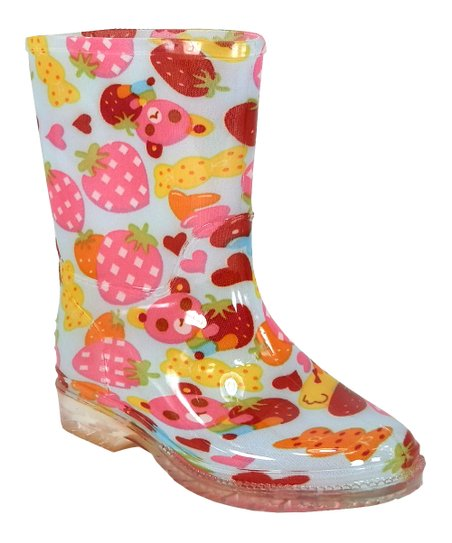 Pink Fruity Rain Boot