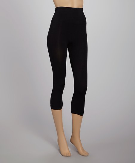 Black Seamless Shaper High-Waisted Capri Leggings