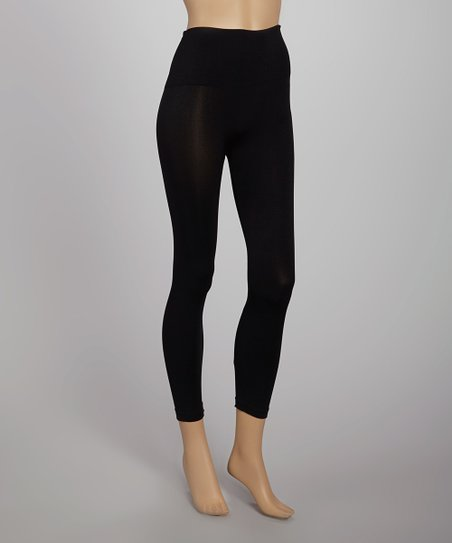 Black Carded Seamless Shaper High-Waisted Leggings