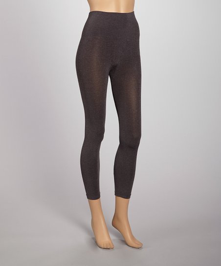 Heather Charcoal Seamless Shaper High-Waisted Leggings