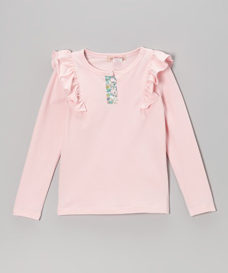 Pink Ruffle Henley - Toddler & Girls