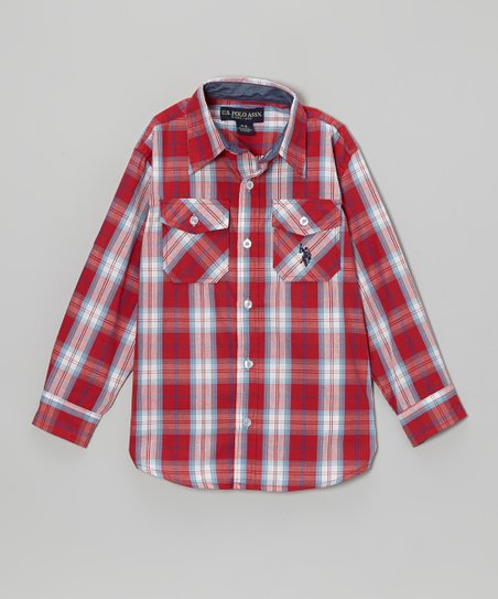 Red Plaid Button-Up - Toddler & Boys