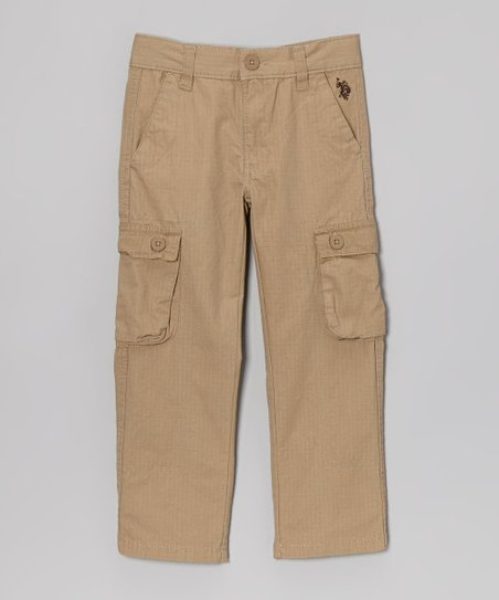 Dark Khaki Cargo Pants - Boys
