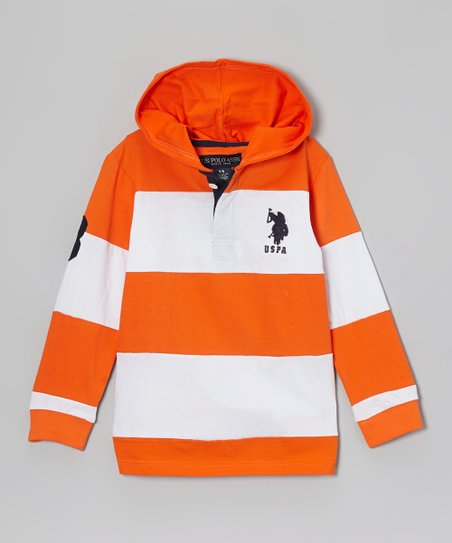 Poppy Orange Hooded Polo - Toddler