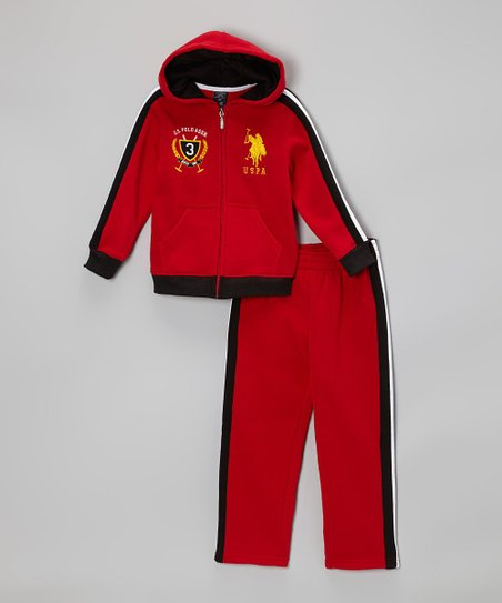 Red Zip-Up Hoodie & Sweatpants - Infant & Toddler