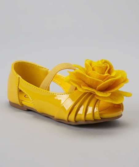 Yellow Patent Cupcake Mary Jane