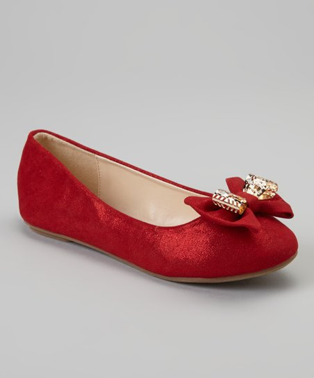 Red & Gold Metallic Cupcake Flat