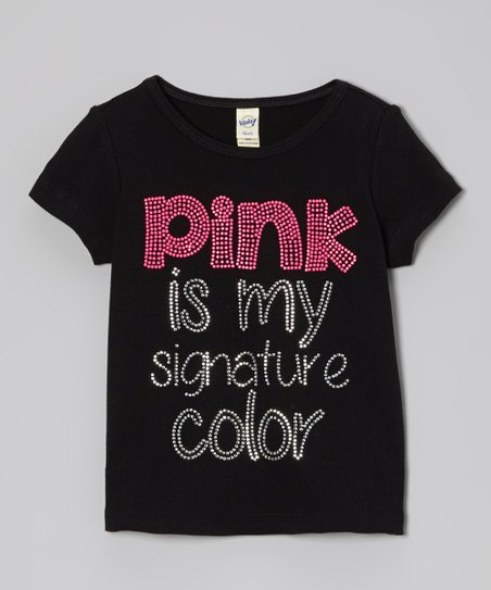 Black & Pink 'Signature Color' Tee - Toddler & Girls