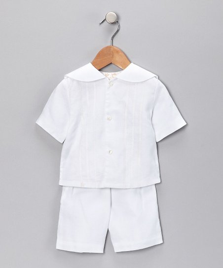 White Top & Shorts - Infant & Toddler