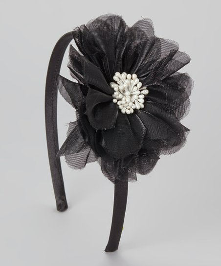 Black Bloom Headband