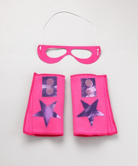 Fuchsia & Purple Hero Mask & Cuffs