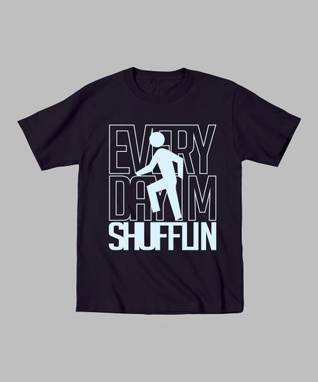 Black 'Every Day I'm Shufflin' Tee - Toddler & Kids