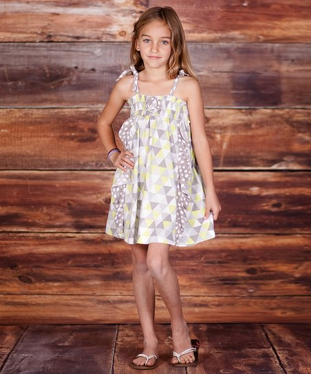 Lime Geometric Dress - Infant, Toddler & Girls