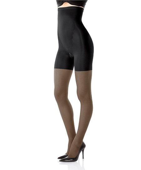 SPANX All The Way Up! High-Waisted Sheer Pantyhose - Black