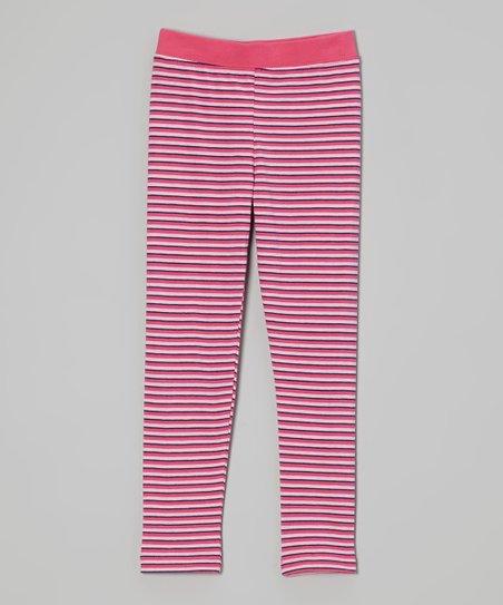 Pink Stripe Leggings - Infant, Toddler & Girls