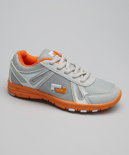 Gray & Orange Action Running Shoe
