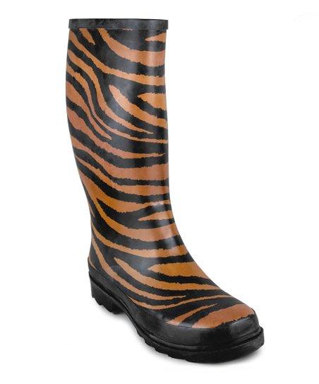 Black Tiger Rain Boot