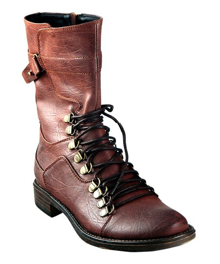 Brown Punk-Rock Boot