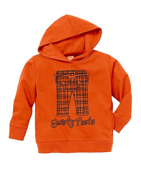 Orange 'Smarty Pants' Hoodie - Toddler & Kids