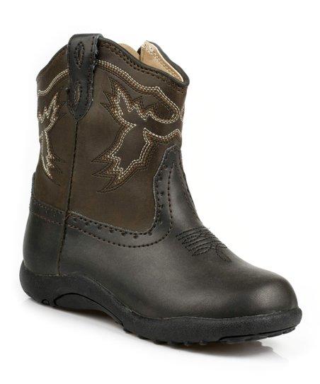 Black & Brown Stitch Boot