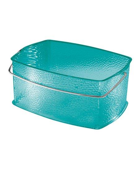 Turquoise Rain Medium Basket