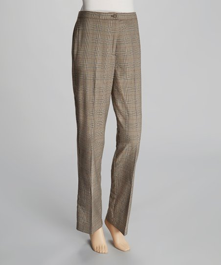 Light Brown Plaid Pants