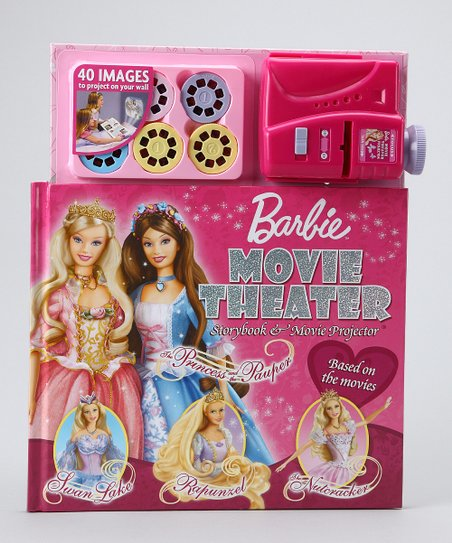 Barbie Movie Theater Hardcover & Movie Projector Set