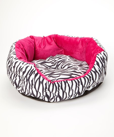 Fuchsia Zebra Pet Bed