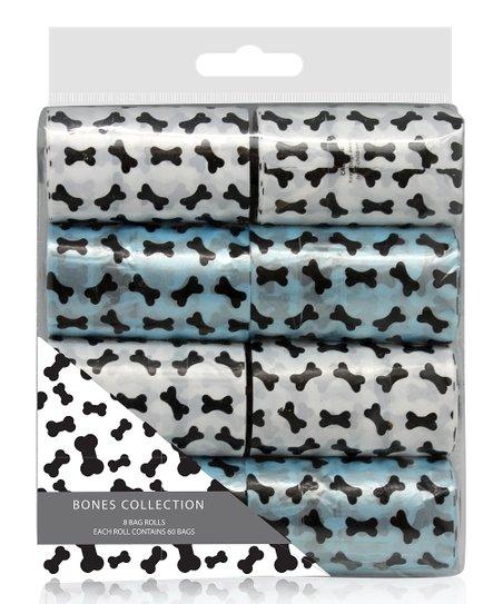 Blue & White Dispenser Bag Roll Set