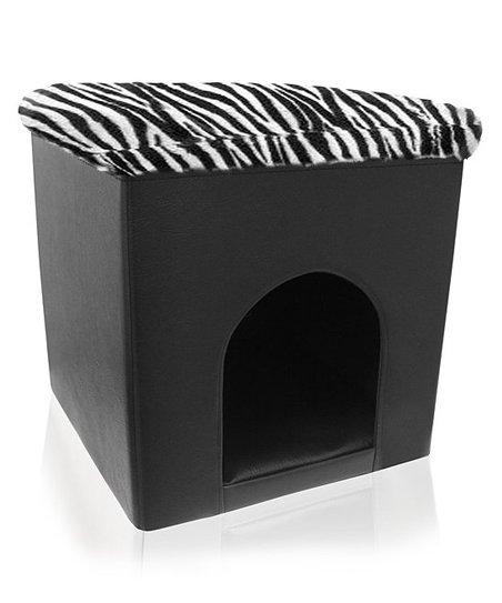 Black Foldable Pet Ottoman