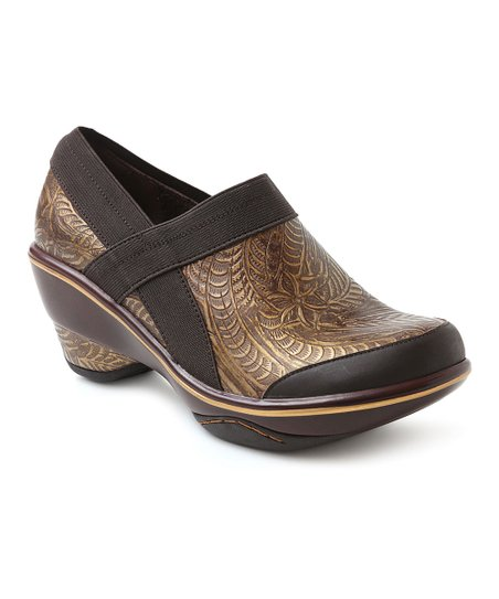 Brown Cali Embossed Bootie