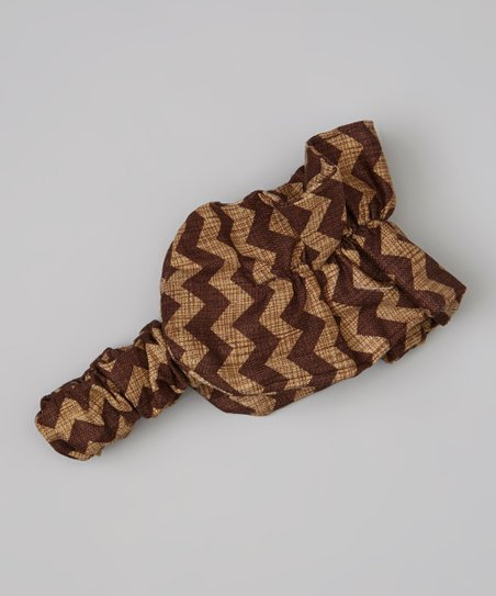 Brown Zigzag Ruffle Headband