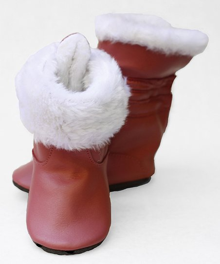 Raspberry Faux Fur Boot