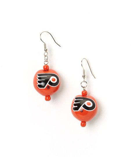 Philadelphia Flyers Kukui Nut Drop Earrings