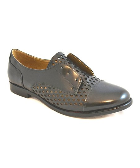 Black Ramsey Slip-On Oxford Shoe