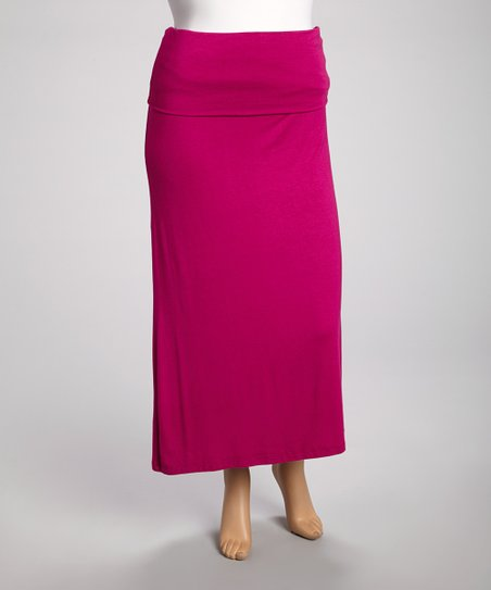 Magenta Strapless Dress - Plus