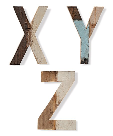 Wood Uppercase Letter Figurine