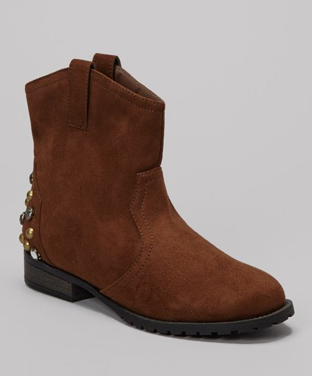Brown Studded Philip Ankle Boot