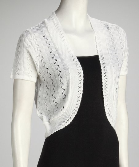 White Crochet Shrug - Women